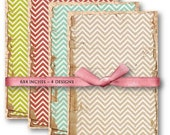 Digital Papers Shabby Chevron Pattern Grunge Paper Download Set 514