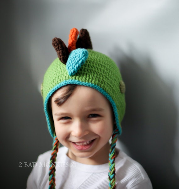 DINOSAUR Hat,Baby boy hats,  BOYS Hat, Toddler Hat, Childrens hats