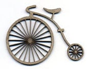Penny Farthing Bike Chipboards Scrap FX Scrapbooking Art Mixed Media Card Making Painting Crafting Embelishment