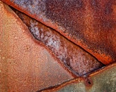 Abstract Fine Art Photography Industrial Rust Orange Grey Still Life Color- Dragon's Eye