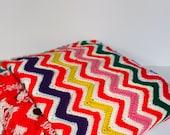 Vintage 1970s Chevron Baby Blanket - PeppermintandCocoa