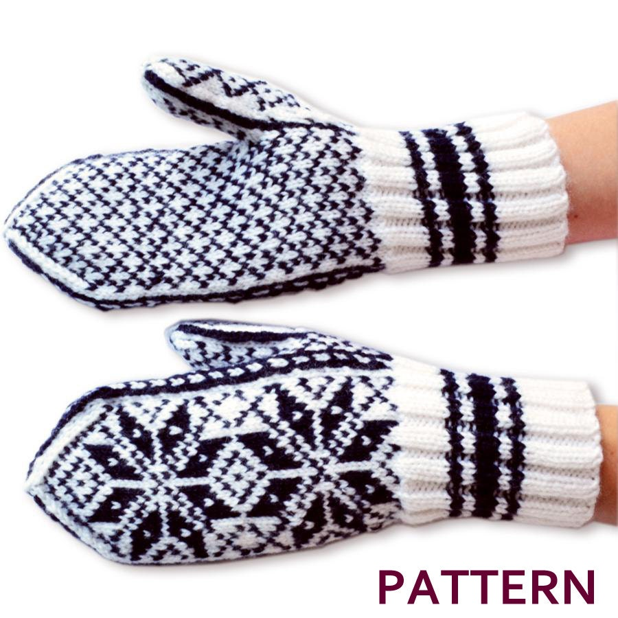 Knitting - Stranded/Fair Isle on Pinterest Mittens Pattern, Mittens and Fai...