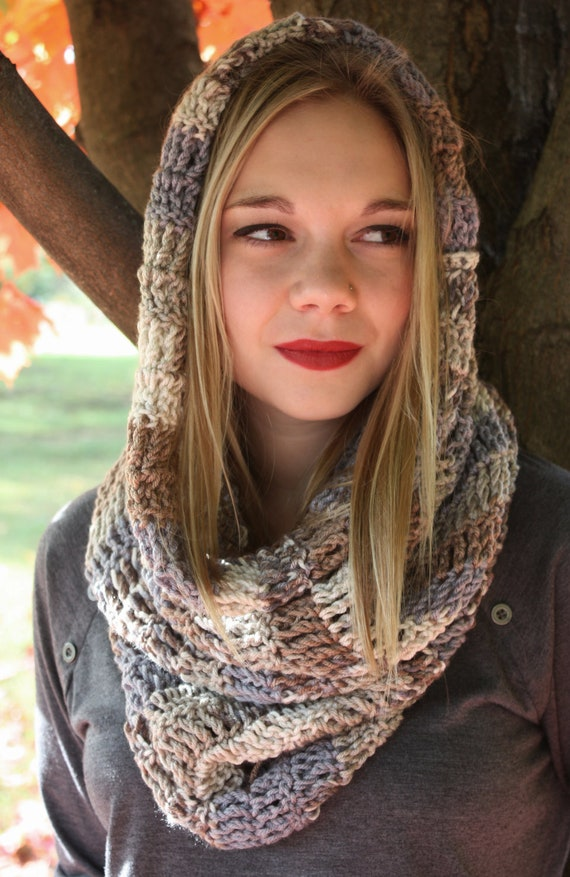 Mixed Colored, Hand Crocheted Cowl. Portion of Proceeds go to Charity