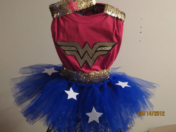 Wonder Woman Halloween Costume Toddler Girls  Medium 4T through size 7