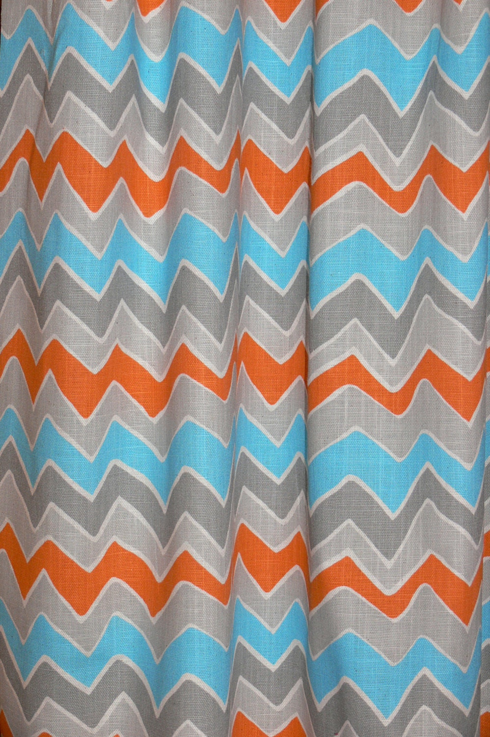 Orange And Blue Shower Curtain Orange And Blue Shower