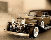 1934 Duesenberg at the Loading Dock  - Sepia -11 x 14  -Classic Car Photograph - Luxury - Bygone Days -Fine Art Photo - ForDaGuys