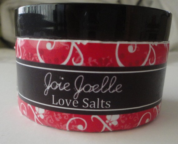 Love Bath Salts With Lavender, Rose and Lemon Balm and Essential oils promoting love and happiness