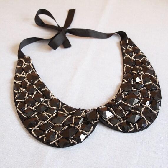 Black Vintage Look Peter Pan Collar Detachable