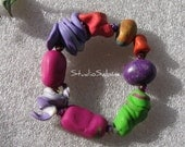 FREE SHIPPING Funky Bold Bangle - not your ordinary beads - StudioSabine