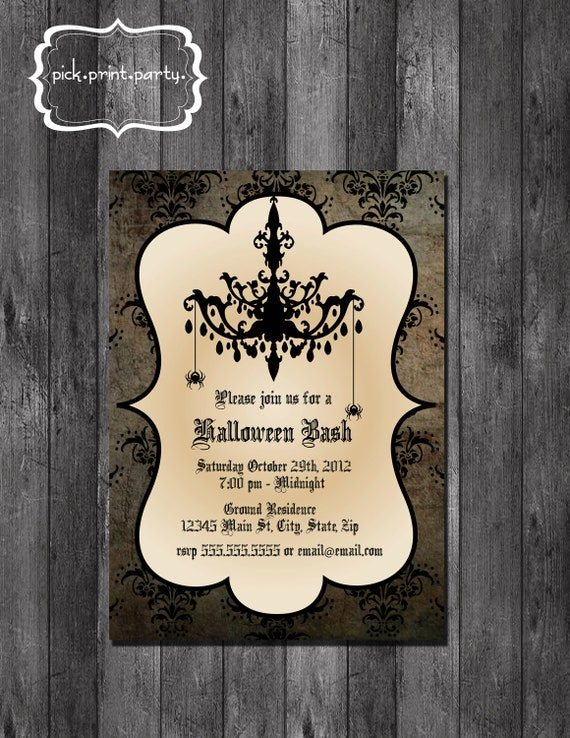 Halloween Bash Invitation - DIY - Printable