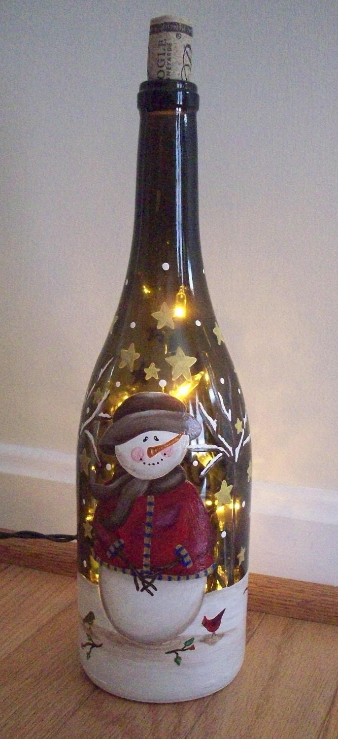 Painted wine bottles on pinterest for What kind of paint to use for wine bottles