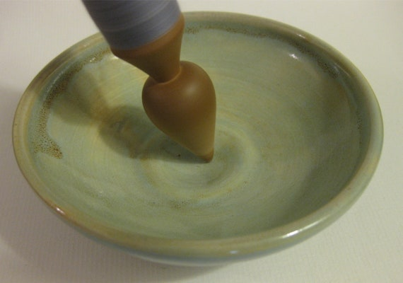 Dimpled Spindle Bowl Handmade Ceramic Dish 8.12.40
