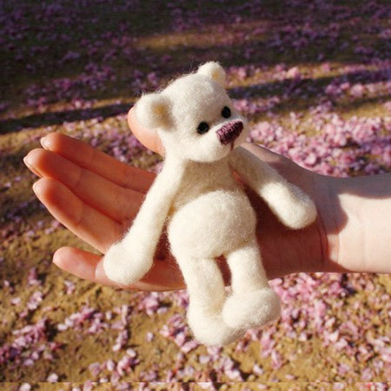 organic wool teddy bear toy for children