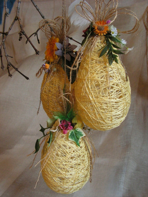 Hangings Easter  Eggs Decoration -set of 3.