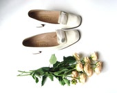 Vintage wedding shoes, Elegant Vintage Heels, Made in Italy, white, - GrandpasTreasury