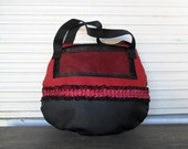Red and Black Bag Faux Leather