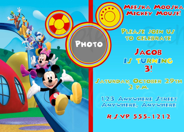 40th Birthday Ideas Invitation Templates Mickey Mouse
