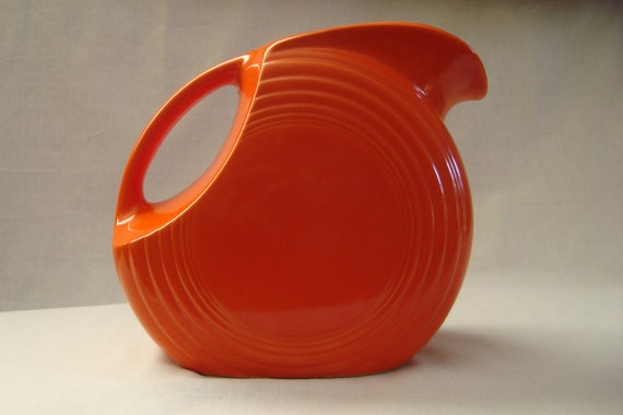 Red Fiestaware Disk Water Pitcher & A Collectoru0027s Guide to Mid-Century Dishware - Etsy Journal