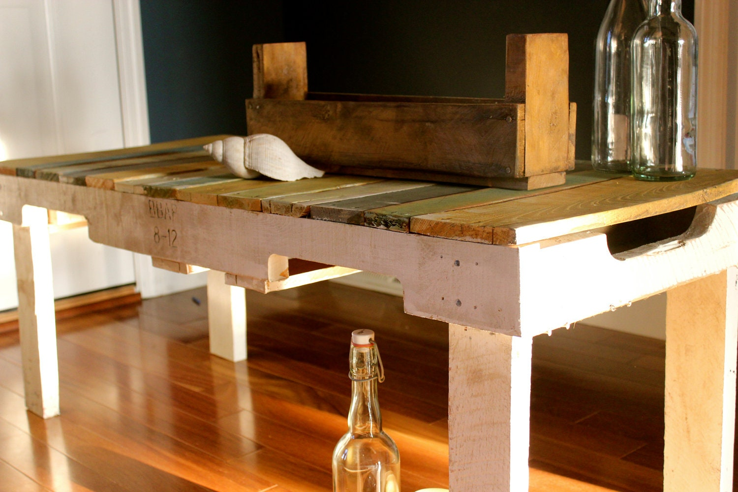Rustic bench or coffee table pallet bench or table by RuralCoast