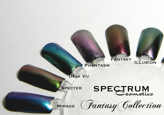 GREEN  Rose Duochrome Nail Polish Top Coat SPECTER