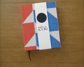 Small Book- Red and Blue Geometric- Journal/ Sketchbook - readwritebooks