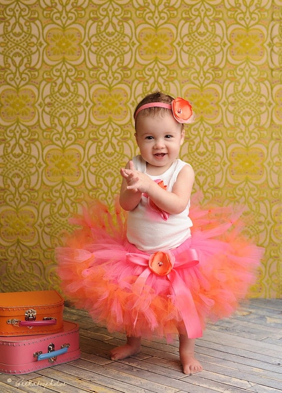 Strawberrie Tangerine Tresor Tutu Dress