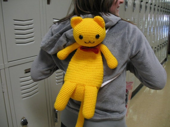 Mini Kitty Backpack Crochet Pattern