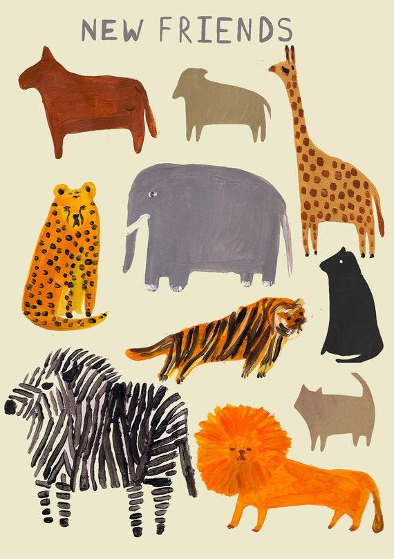 Zoo Animal Print