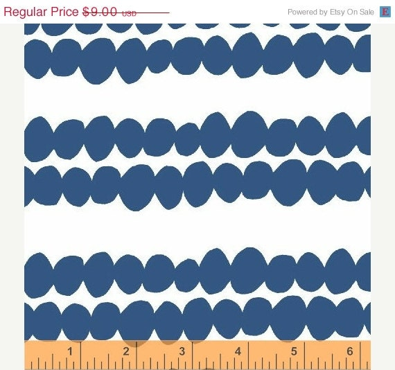 HOLIDAY SALE Fabric by the yard, Bella by Lotta Jansdotter, Redig in Cornflower, Windham, 1 yard