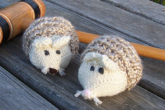 Hedgehogs - PATTERN Knitting & Crocheting, Catnip Toys - PDF Format - Directions to Make Your Own Toys