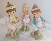 Vintage Lefton Children Figurine Three Sisters