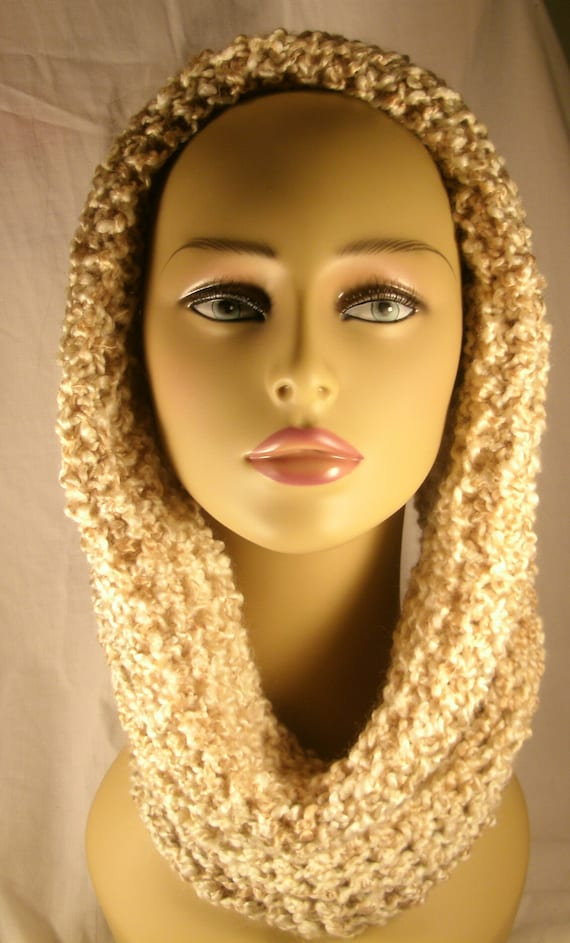 Knitted cowl in pearl, womens neckwarmer, Cream cowls, winter accessorie