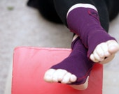 Home for your feet - purple/plum organic and handstitched - cool and warm - icancu2