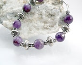 February Birthstone - Purple Amethyst and Silver Bracelet - TouchOfSilver
