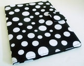 iPad, Kindle, Nook, Kobo Cover - Black and White Polka Dots, Made to Order - gothicreations