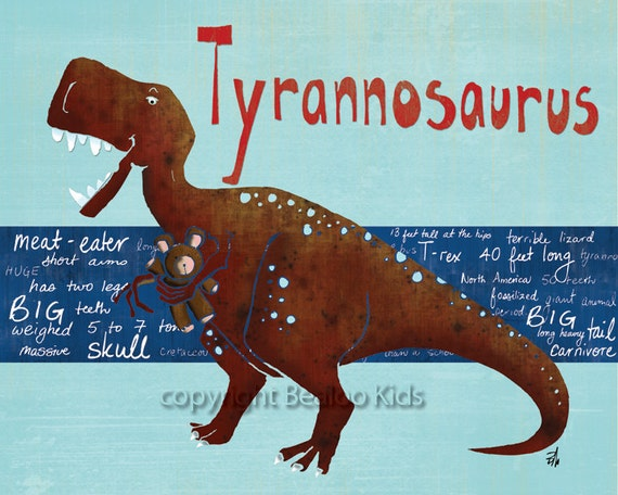 Dinosaur Print on Etsy