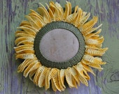 Floral Table Decor, Crochet Stone, Sunflower, Home Decor, Handmade, Original, Nature, Garden, Decorative Arts - Monicaj