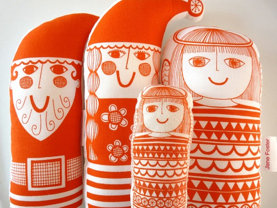 Scandinavian Retro Christmas Toy Kit by Jane Foster - Santa, Angel, Mrs Christmas