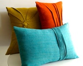8 line accent pillow - linen