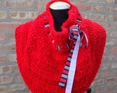 Fire Red Shoulderette / Cowl