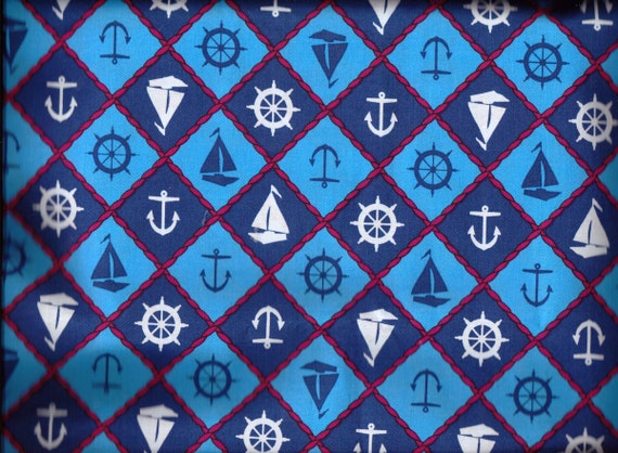 Fabric Nautical Sailing Ships Fat Quarters