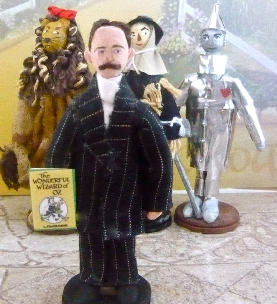 The Wizard of Oz Author L. Frank Baum Doll Miniature