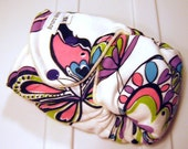 Butterflies Fitted Cloth Diaper Newborn Super Nights made with bamboo velour and organic cotton