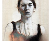 portrait art print figurative female art - TheHauntedHollowTree