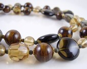 Vintage Jewelry Necklace, Vintage Brown Earth Tone Necklace - myshininglights