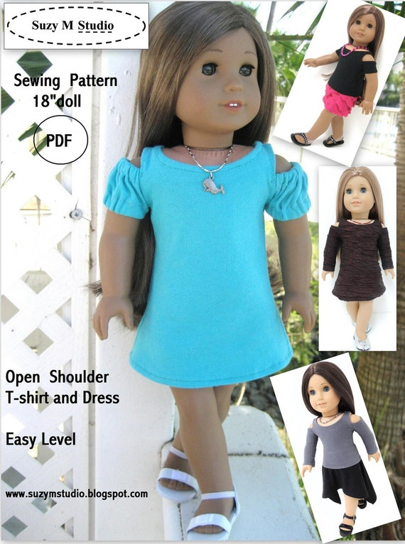 PDF Pattern Open Shoulder T-Shirt and Dress