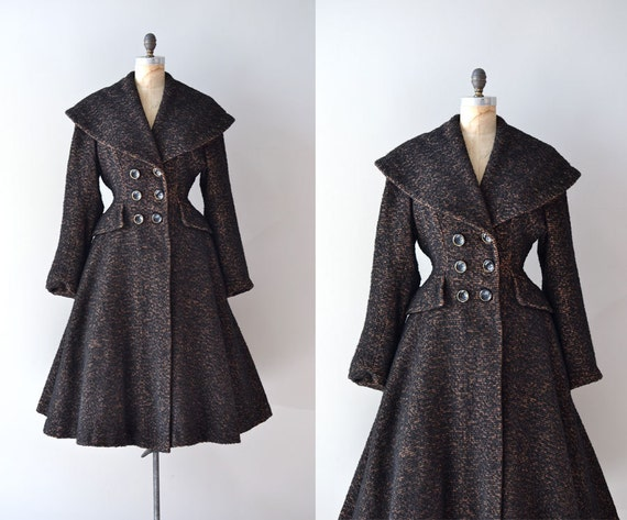 vintage 1950s coat / wool 50s princess coat / Sturm und Drang