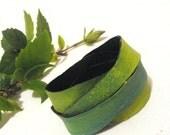 SALE Leather wrap bracelet Multistrap green leather bracelet SALE - julishland
