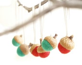 acorn tree ornaments by Fairyfolk on etsy