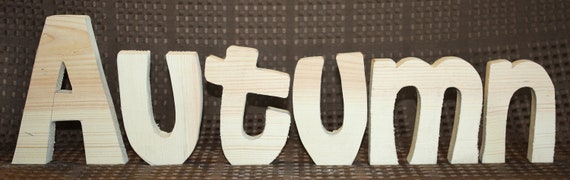 UNFINISHED Autumn wood letters